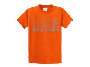 Ford T-Shirt Mustang Grill Legend Honeycomb Grill and Emblem-orange-4xl