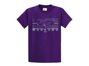 Ford T-Shirt Mustang Grill Legend Honeycomb Grill and Emblem-purple-4xl