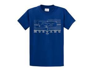 Ford T-Shirt Mustang Grill Legend Honeycomb Grill and Emblem-royal-5xl