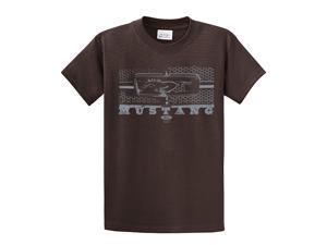 Ford T-Shirt Mustang Grill Legend Honeycomb Grill and Emblem-brown-5xl