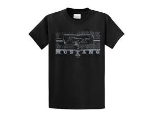 Ford T-Shirt Mustang Grill Legend Honeycomb Grill and Emblem-Black-4xl