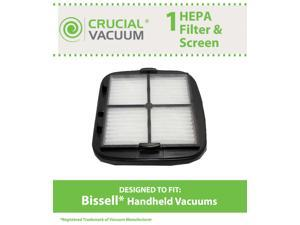 1 Bissell Hand Vac HEPA Filter and Filter Screen Fits Bissell Hand Vac Auto-Mate Pet Hair CleanView Vacuum Models 27K6, 33A1B, ...