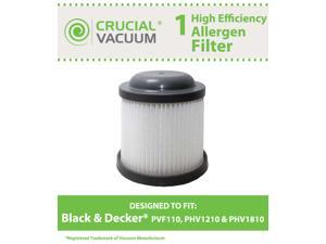 1 Black & Decker PVF110 Replacement Filter Designed To Fit Black & Decker PVF110, PHV1210, PHV1810&#59; Compare To Black & Decker ...