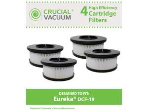 4 Eureka DCF19 Allergen Cartridge Filter Designed to Fit Eureka Boss Whirlwind Lite 450 Series Upright Vacuums&#59; Compare to ...