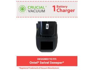 Crucial Vacuum Swivel Sweeper Battery Charger Designed To Fit Ontel Swivel Sweeper Battery&#59; Compare To Swivel Sweeper Part ...