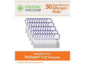 50 Proteam Windsor Raven 6 QT Commercial Backpack Vacuum Bags Designed To Fit Proteam Windsor Raven 6 Quart Commercial Backpack ...