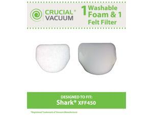 Shark XFF450 Washable & Reusable Felt & Foam Filter Kit&#59; Fits Shark Rotator NV450 Professional Uprights&#59; Compare to Part ...