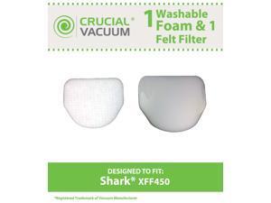 Shark XFF450 Washable & Reusable Felt & Foam Filter Kit&#59; Fits Shark Rotator NV450 Professional Uprights&#59; Compare to Part ...