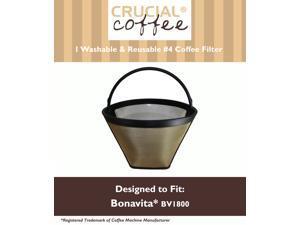 Amp reusable coffee filter 4 cone fits bonavita bv1800 8 cup coffee