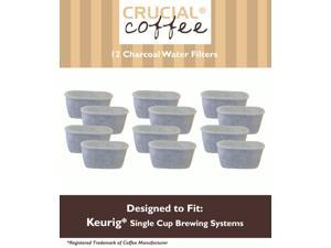 12 Keurig Charcoal Water Filters&#59; Fits Keurig Single Cup Brewing Systems&#59; Designed & Engineered by Crucial Coffee