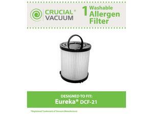 Eureka DCF-21 Filter&#59; Long-Life WASHABLE, REUSABLE and Allergen Filtration, Compare With Eureka DCF21 Part # 67821, 68931, ...