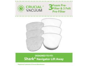 Shark Navigator Lift-Away NV350, NV351, NV352, NV355, NV356, NV356E, NV357 Washable Foam and Felt Pre-Filter Replacement ...