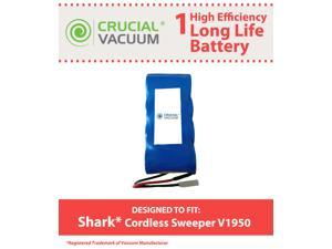 Shark Cordless Sweepers Long Life Extended Capacity 3000mah Rechargeable Battery Replacement Designed To Fit Shark V1950, ...