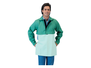 Tillman 6221V 9 oz. Green Westex Cotton Cape Sleeve Hook/Loop Closure, 2X-Large