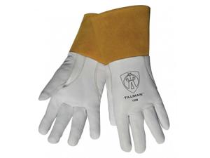 "Tillman 1338 Top Grain Goatskin TIG Welding Gloves with 4"" Cuff, Small"