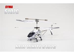 New Syma S107G Mini Metal Frame 3.5CH RC Helicopter w/Gyro and LED Lights-White