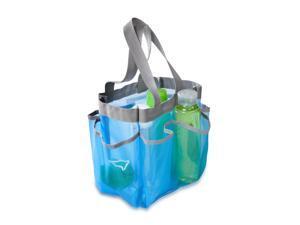 Honey Can Do SFT-01103 Blue 6 Pocket Shower Tote