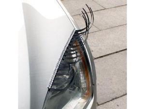 Car Eyelashes Headlight Lamp Auto sticker Pair with Silver crystal eyeliner