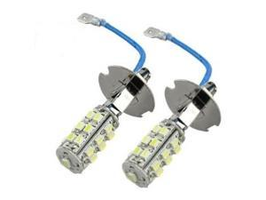2 pc White 25 SMD SMT H3 LED Driving Fog Light Bulbs
