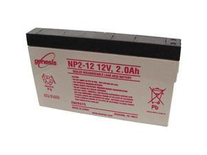 Genesis NP2-12 12V/2AH Sealed Lead Acid Battery