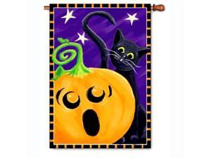 40in Halloween House Flag - Halloween Surprise