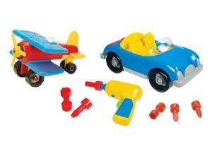 Battat Take-A-Part Airplane & Roadster Exclusive Combo Pack