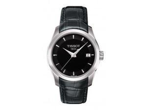 Tissot Women's T035.210.16.051.00 Black Dial Couturier Watch