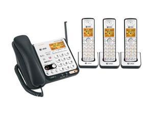 AT&T CL84309 4 Handset DECT 6.0 1.9GHz Corded / Cordless Phone Combo - Wall Mountable + Speakerphone