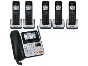 AT&T CL84100 + (4) CL80100 DECT 6.0 Technology 1.9GHz 6 Handset  Corded / Cordless Phone Combo