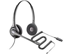 Plantronics Polaris SupraPlus PW261N Stereo Corded Dual Earpiece Headset Supports Wideband VoIP Phones - New
