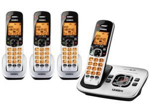 Uniden D1780-4 DECT 6.0 Expandable 1.9GHz Cordless Phone with Digital Answering System, Silver, 4 Handsets Brand New