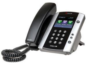 Polycom VVX 500 2200-44500-025 12-Line Business Media Desktop Video Conference Phone with HD Voice 220044500025