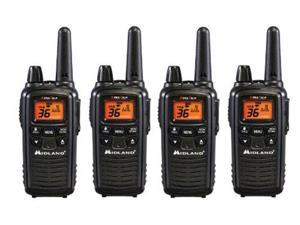 Midland LXT600VP3 (4 Pack) Two Way Radio / Walkie Talkie - Up To 30 Mile Range - 36 Channels - Water Resistant