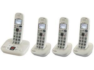 Clarity D712 + (3) D702HS DECT 6.0 Technology (1.9GHz) Moderate Hearing Loss Cordless Phone
