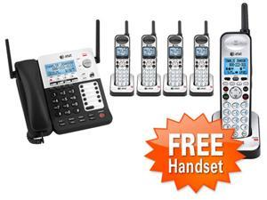 AT&T SB67138 + (4)SB67108 DECT 6.0  Technology Corded / Cordless Phone