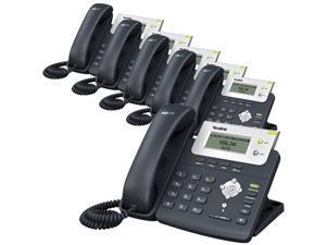 Yealink SIP-T20P / SIP T20P/ SIPT20P Corded VoIP Phones W/  2 Lines ( 6 Pack )