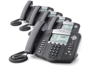 Polycom SoundPoint IP 550 2200-12550-025 Corded VoIP Phone ( 4 Line PoE ) Up To 4-Lines w/ Up To 2 Calls Per Line 220012550025 ...