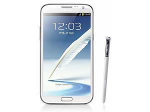 "Samsung Galaxy Note 2 / N7100 5.5"" Touch Screen 8.0 MP Android 4.1 ( Jelly Bean ) Unlocked GSM Mobile Phone Marble White"