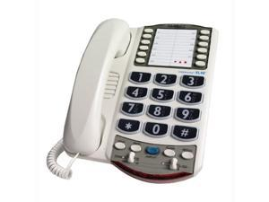 Amplified Big Button Corded Phone Digital Clarity Amplified Corded Telephone