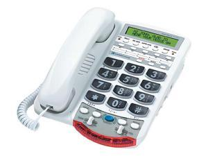 Ameriphone VCO Mild Hearing Loss Amplified Big Button Wall Mountable Corded Phone