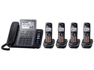Panasonic KX-TG9473B + (1) TGA939T 2 Line DECT 6.0 1.9GHz Corded And Cordless Phone
