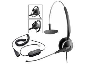 Jabra GN 2119 3-In-1 Mono ST Headset & GN1200 Cable w/ Flexible Boom
