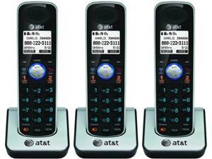 AT&T TL86009 3 Pack Handset / Charger 2 Line Large Backlit LCD Display