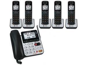 ATT CL84100 + (4) CL80100 6 Handset Corded / Cordless Phone