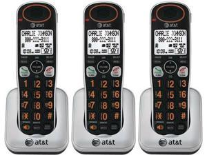 AT&T TL30100 Handset / Charger Large Backlit LCD Display 3 Pack