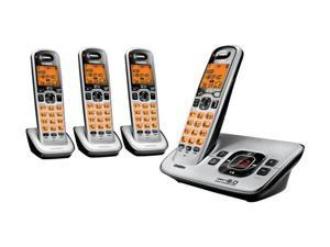Uniden D1680-4-R DECT 6.0 Cordless Phone w/ Answering System & 3 Extra Handsets