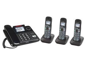 Clarity E814CC + (2) E814HSCorded Caller ID Telephone with Three Additional Handset