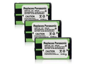 New Replacement Battery For Panasonic HHR-P104 / GE-TL26411 Phone Models 3 Pack