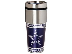 Great American Products Dallas Cowboys Travel Tumbler Stainless Steel 16 oz. Travel Tumbler