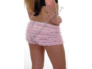 2985 * Sexy School Girl Ruffle Boy Shorts Panty * PINK